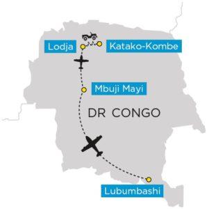 Kaart van de reis