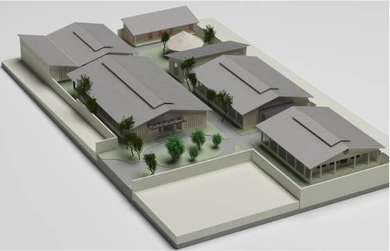 Het plan voor het ziekenhuis in Mbuji Mayi