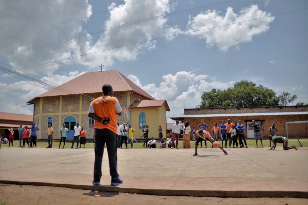 Goalball bij de Rwamagana blindeschool