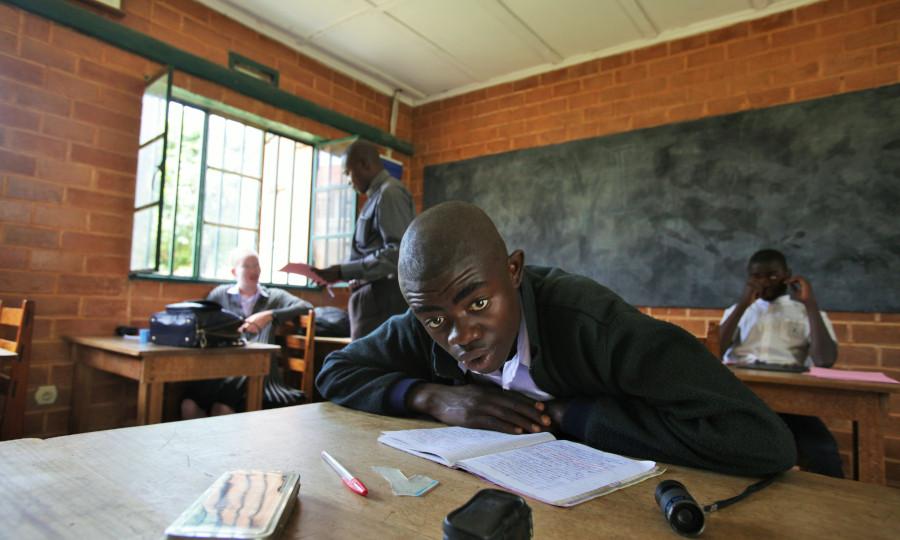 Nuru-instituut voor blinde en slechtziende kinderen in Lubumbashi