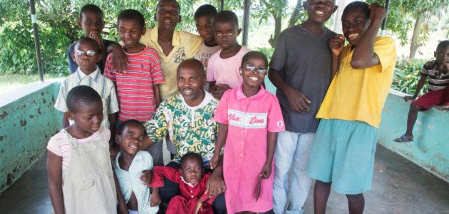 Frédéric en schoolkinderen