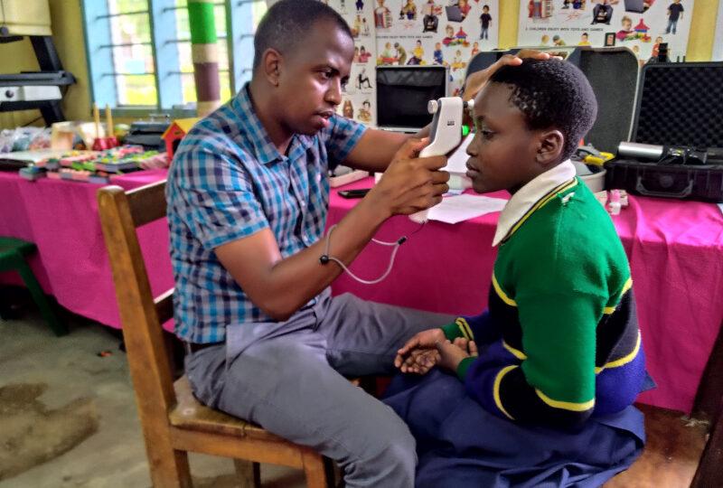 School screenings in Tanzania